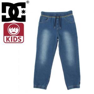 DC SHOES スウェット ジョガーパンツ ディーシー デニム風生地 インディゴ キッズ ジュニア パンツ ズボン|upsports