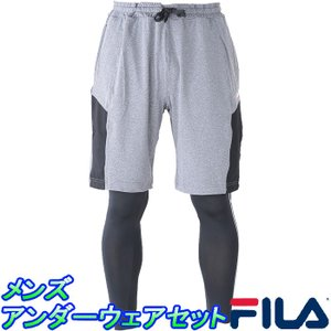 FILA ショートパンツ マイクロスムースタイツ SET フィラ アンダーセット 415-344 ランニング トレーニング|upsports