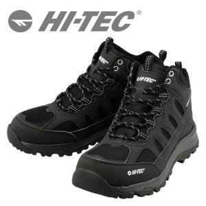 HI-TEC トレッキングシューズ ハイテック 3E ロックネス WP 登山靴 防水 HT BTU12 ブラック 53840936