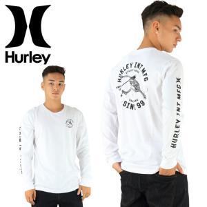 HURLEY メンズTシャツ AMTLSKSF ホワイト 男性用 長袖 ロゴ 白 ハーレー ロングTシャツ バックプリント|upsports