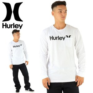 HURLEY メンズTシャツ MTLSOAOPK ホワイト 男性用 長袖 ロゴ 白 ハーレー ロングTシャツ ポケット 通販 販売 即納 ロゴTシャツ 2017年モデル 綿100%|upsports