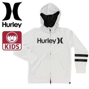 ハーレー キッズ ラッシュガード HURLEY RASH ZIP OPEN HOOD O&O 男の子 ボーイズ 紫外線防止 Hurley 長袖 即納 ジップアップ 海 プール Hurley  ハーレ|upsports