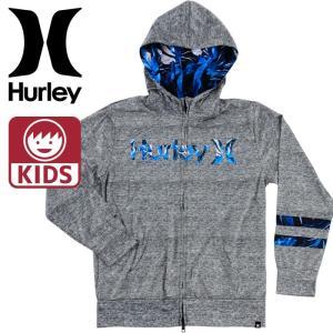 Hurley キッズ 長袖 ラッシュガード ハーレー ボーイズ HURLEY RASH ZIP OPEN HOOD O&O 男の子 紫外線防止|upsports