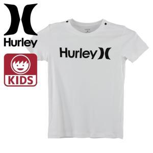 ハーレー ボーイズ 半袖ラッシュガード TEE UV加工 ラッシュTシャツ HURLEY 白 ホワイト BRG0000920|upsports
