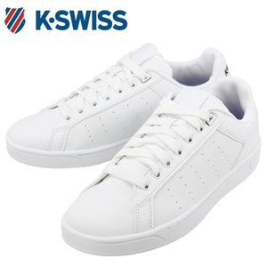 送料無料 ケースイス KSWISS 36054340 合皮 スニーカー シューズ 白 黒 ホワイト ブラック くつ 靴