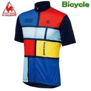ルコック サイクルウェアー メンズ サイクル半袖シャツ 自転車用ウエアー  Lecoq QC-741571|upsports