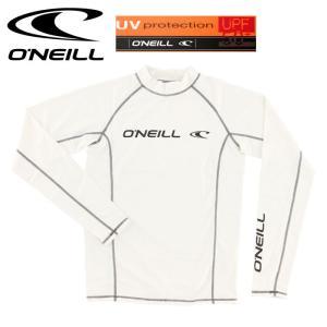 オニール メンズ 長袖ラッシュガード 白 シンプル ワンポイントロゴ プール ONEILL 617472 ラッシュ 617472|upsports
