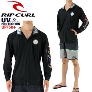 リップカール メンズラッシュガード RIPCURL 長袖ラッシュジャケット 男性用 M-L V01-862|upsports