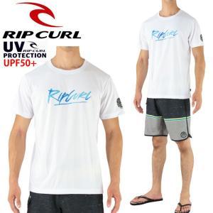 SALE リップカール メンズラッシュガード 半袖Tシャツ サーフィン マリンスポーツ RIPCURL 男性用 M-L V01-864  紫外線対策 サーフカジュアル 2017|upsports