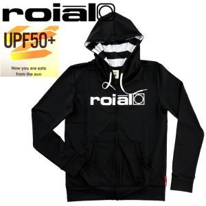 セール ROIAL ラッシュガード ロイヤル 水着 レディース ジップアップ GRG04 BLK|upsports