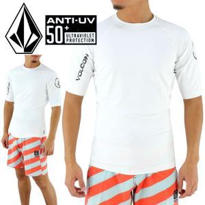 ラッシュガード ボルコム UVカット UPF50+ 半袖ラッシュTシャツ N0111700 LIDO SOLID S/S VOLCOM 白|upsports
