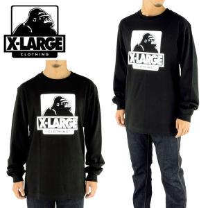 エクストララージ ロンT X-LARGE ロングスリーブティーシャツ 黒 L/S TEE OG 01173102 ゴリラ 綿100%|upsports