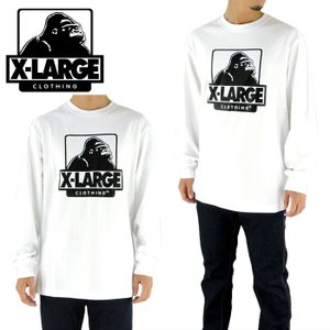 X-LARGE エクストララージ ロンティー ロングスリーブTシャツ ホワイト L/S TEE OG 01173102 ゴリラ|upsports