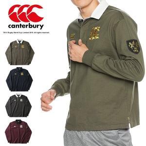 即納可☆ 【canterbury】カンタベリー ロングスリーブラガーシャツ(メンズ) ラグビー 長袖 ポロシャツ RA48591|upstairs