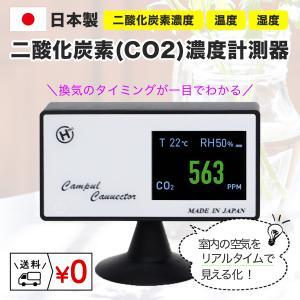 在庫あり 即納 | 日本製 CO2モニター 二酸化炭素 濃度測定器 濃度計 CO2センサー CO2濃度測定器 CO2マネージャー | 換気 ウイルス 感染対策 店舗 飲食店 個室の画像