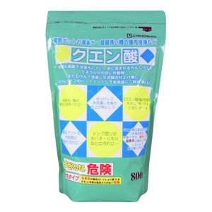 クエン酸 マルチ洗浄剤 柔軟剤 湯垢 水垢 石けん汚れに効く 800g  uqlife