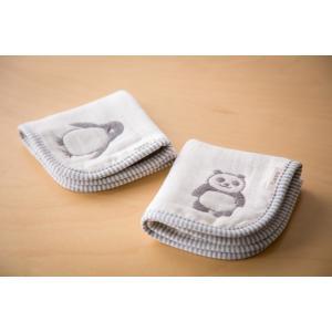 六重織ガーゼ ハンカチ fuwara 日本製 パンダ柄 ペンギン柄 2枚まで 送料無料|uqlife