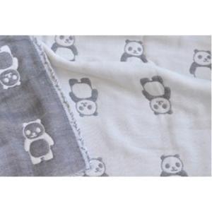 六重織ガーゼフェイスタオルFuwara日本製パンダ柄 |uqlife