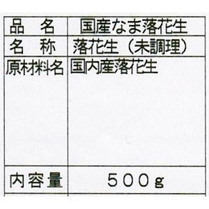 国産 未調理なま落花生(ナカテユタカ) 500g|urakawamameten|03