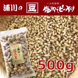 新物 塩ゆで落花生 【大粒】 500g 長崎県産|urakawamameten
