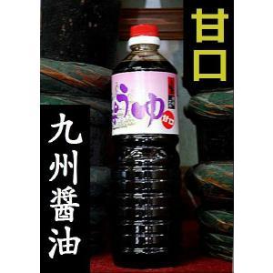 <福岡・浦野醤油醸造元>甘口印こいくち醤油 1000ml