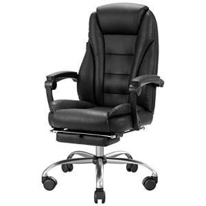 Hbada 椅子 オフィスチェア レザーチェア 社長椅子 ハイバック 肉厚クッション 135度リクラ...