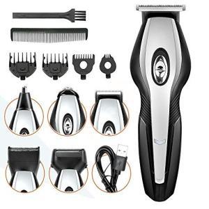 バリカン MANLI 電動バリカンセット USB充電式 多機能 ヘアカッター 散髪セット ヒゲトリマー 低騒音 成人/子供 家庭用 urarakastr