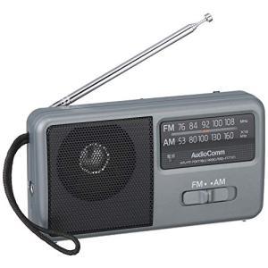 OHM AM/FM コンパクトポータブルラジオ RAD-F1771M シルバー