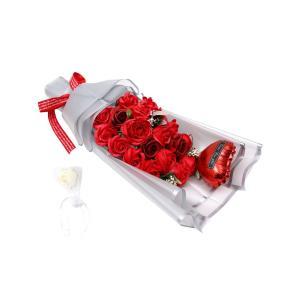 REEMONDE バラ 石鹸 フラワーギフト 入浴剤 フラワーソープ 枯れない 花束 還暦祝い 女性 花 風船付き(レッド)|urarakastr