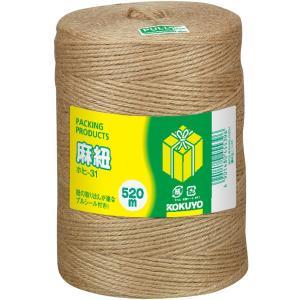 コクヨ 麻紐 きなり色 520m巻 チーズ巻き ホヒ-31|urarakastr