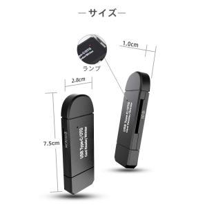 Type-C/Micro usb/USB 3in1メモリカードリーダー SDメモリーカードリーダー ...