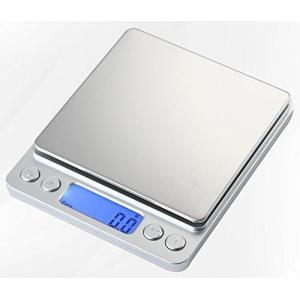 小型 精密 デジタルスケール 電子はかり 0.1g単位 3kgまで計量 日本語取扱説明書付き 計量ト...