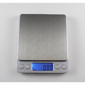 デジタルスケール 0.1g~3kg コンパクトですっきりデザイン 便利な小物入れ付き