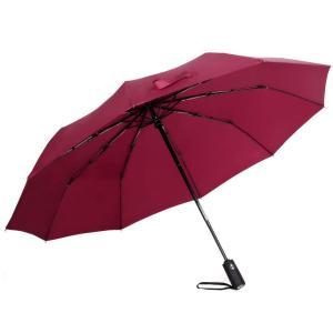 折りたたみ傘 自動開閉 メンズ 大きい 頑丈な10本骨 晴雨兼用 折り畳み傘 超軽量 Teflon加...