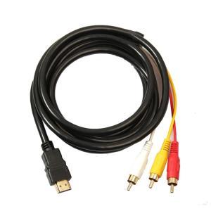 金メッキ高品質 HDMI A/M TO RCA3 変換ケーブル 1.5m