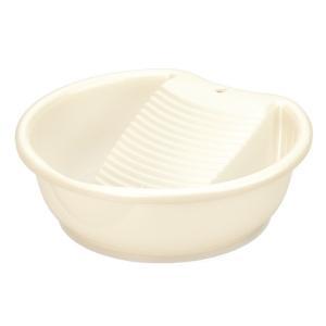 イノマタ化学 洗濯板 容器付き ラブウォッシュ パールホワイト