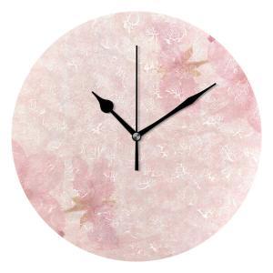 ユキオ(UKIO) 掛け時計 置き時計 壁掛け時計 室内 部屋装飾 壁時計 インテリア おしゃれ 北欧 桜 ピンク かわいい ギフト 時計 アート 部