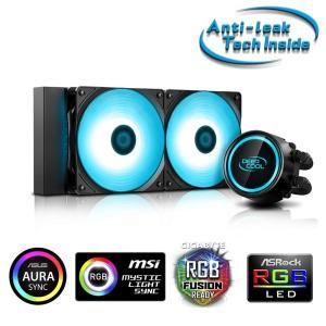 DEEPCOOL RGB LED Lighting対応 簡易水冷CPUクーラー [Intel/AMD...