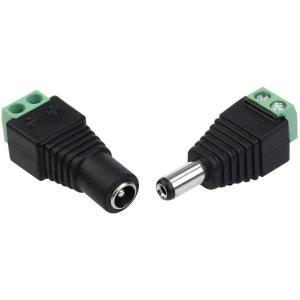 LEDテープライト 用 DCコネクター / 変換プラグ / DCジャック 変換 アダプター メス オス 5.5 × 2.1mm