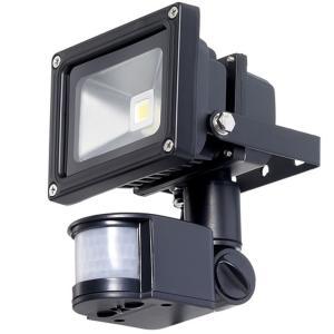防犯用LED人感センサーライト10w昼白色 時間調整可能...