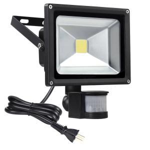 センサー内臓の防犯ライト、スイッチで調整可能、玄関センサーライト、廊下照明、雨ぬれてもセンサー自動点...