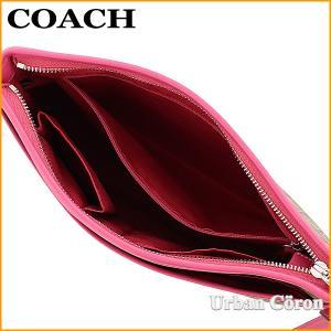 コーチ バッグ ショルダーバッグ COACH F58297 カーキ×マジェンタ ラグジュアリー シグネチャー ファイルバッグ SKHMJ|urban-coron|03