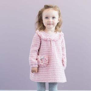 子供服 ワンピース 長袖 女の子 プリンセスドレス Aラインスカート フォーマル ピンク daveb...