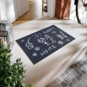 wash+dry(ウォッシュアンドドライ) Sweet Home 洗えるデザインマット 500×750(mm) A016A|ureshii-office