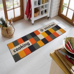 wash+dry(ウォッシュアンドドライ) @kitchen orange 洗えるデザインマット 600×1800(mm) B00|ureshii-office