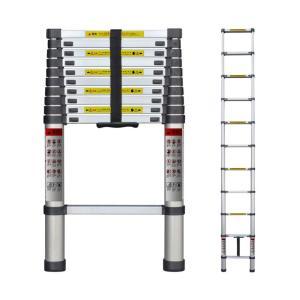 Moore Carden 伸縮はしご 最長3.8m 耐荷重150kg 日本語説明書付き スーパーラダー コンパクト 持ち運びやすい 伸縮自在 自動ロック スライド式  (3.8M)|ureteq