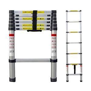 Moore Carden 伸縮はしご 最長2.0m 耐荷重150kg スーパーラダー コンパクト 持ち運びやすい 伸縮自在 自動ロック スライド式 アルミ 梯子 (2M)|ureteq