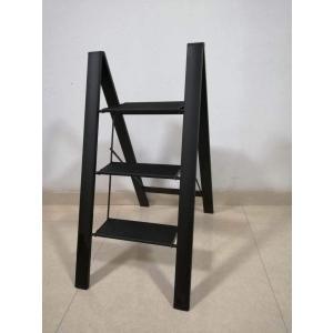 ONE STEP (スタイリッシュ3段 黒色) スタイリッシュ 脚立 アルミ 薄型踏み台 踏み台 折りたたみ おしゃれ 軽量 折りたたみ脚立 ステップ台|ureteq