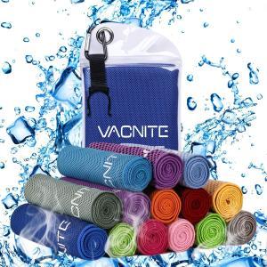VACNITE クールタオル 速乾タオル 超吸水 軽量 速乾 熱中症対策 100×30cm 1枚 1...
