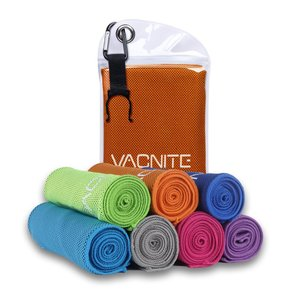 VACNITE クールタオル 速乾タオル 超吸水 軽量 速乾 熱中症対策 100×30cm 1枚 7...
